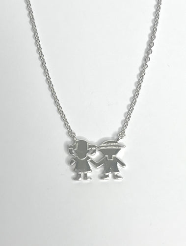 Daughter & Son Necklace Sterling Silver