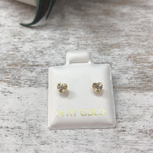Children's Diamond-Cut Heart Earrings 14k Gold