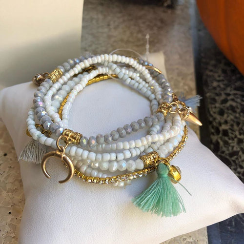 Fortunate Bracelets Arm Candy Tassel Beads
