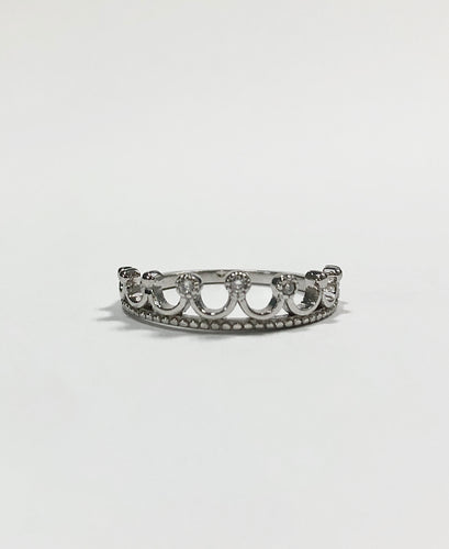 Dazzling Crown Ring Sterling Silver
