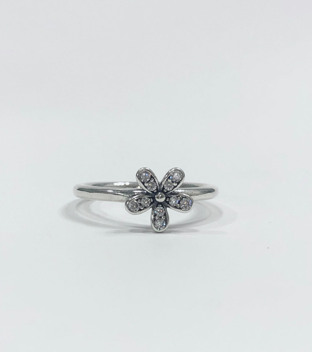 Bloom Flower Ring Sterling Silver