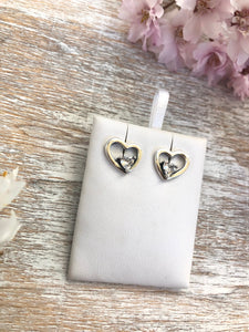 Lovely Heart Earrings Sterling Silver