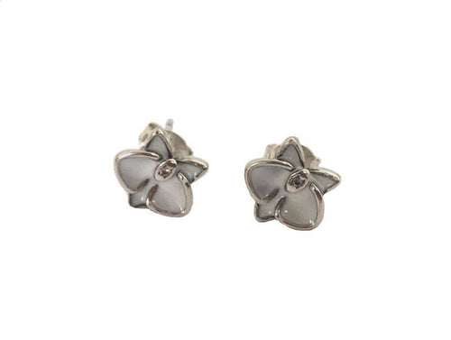 Lively Orchid Earrings Sterling Silver