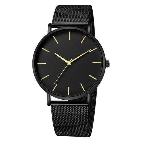Women Black Minimalism Watch