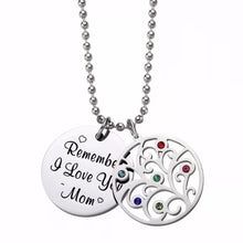 Mom Remember I Love You Necklace Stainless Steel