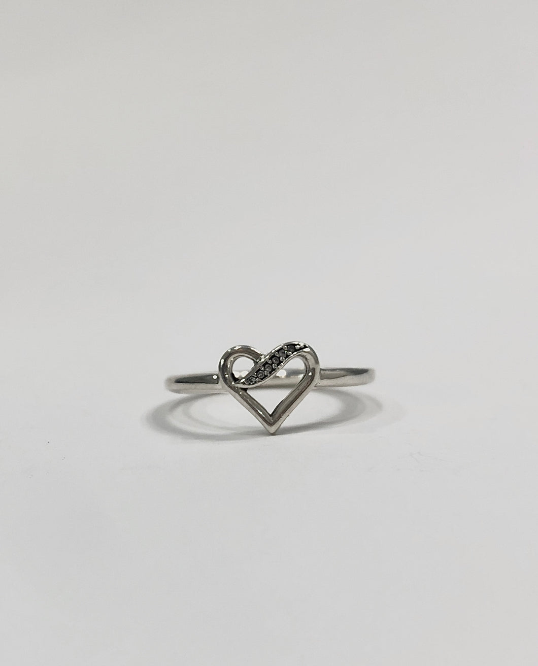 Lovely Heart Ring Sterling Silver
