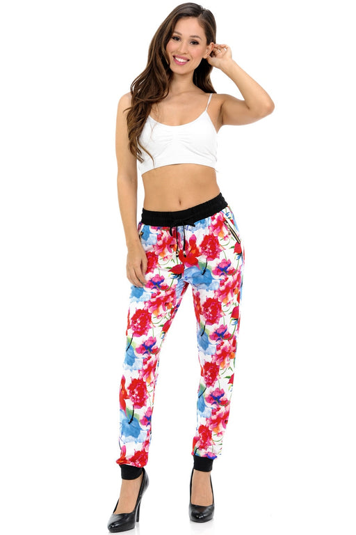 Leggings Color Burst Floral Joggers
