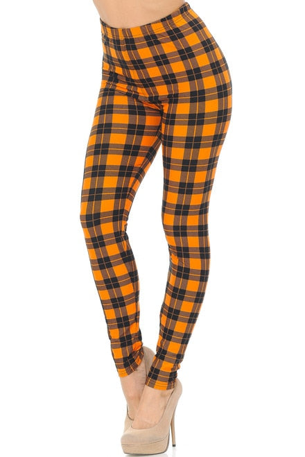Leggings Pumpkin Plaid