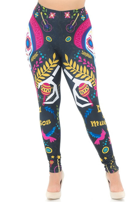 Leggings Day of the Dead