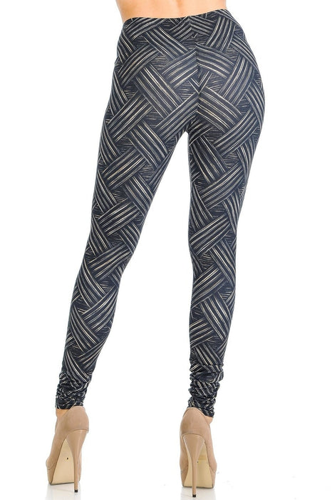 Leggings Bronze Banded Crisscross
