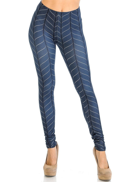 Leggings Vertical Swirl