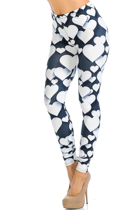 Leggings 3D Hearts