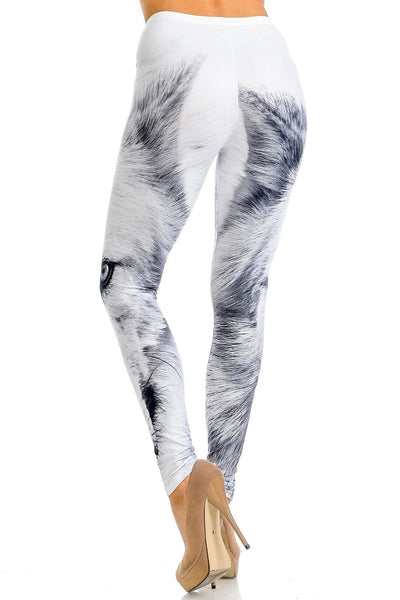Leggings White Wolf