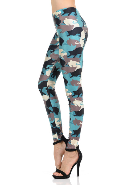 Leggings Kitty Cat Camouflage