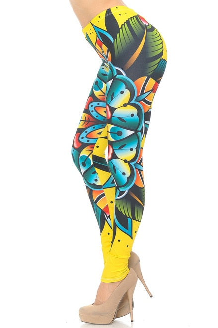 Tattoo Flower Leggings