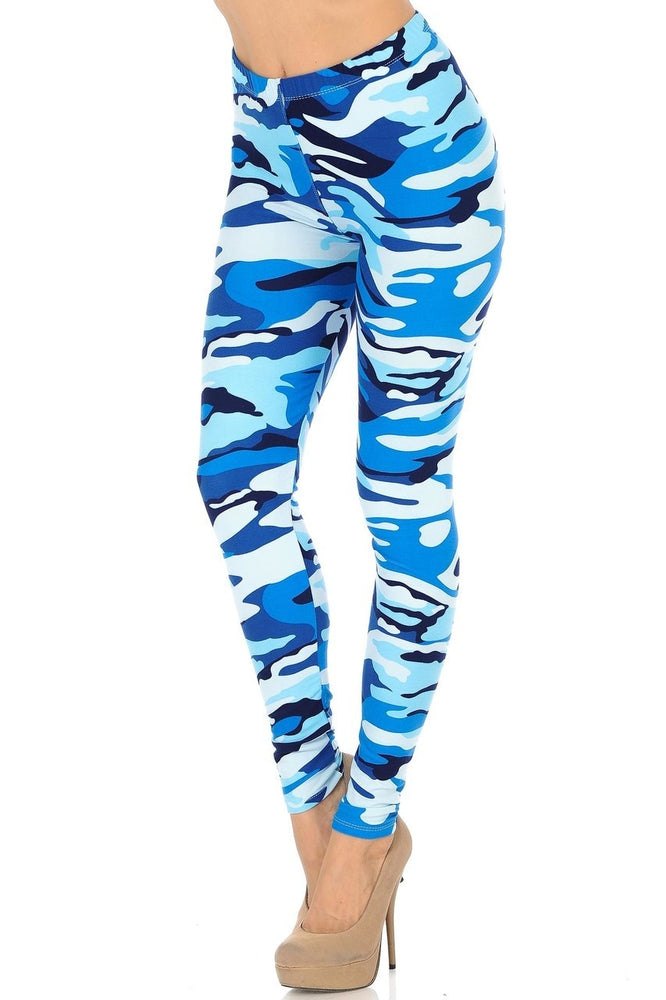 Leggings Blue Camouflage