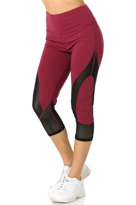 Duo Mesh Active Workout Capris