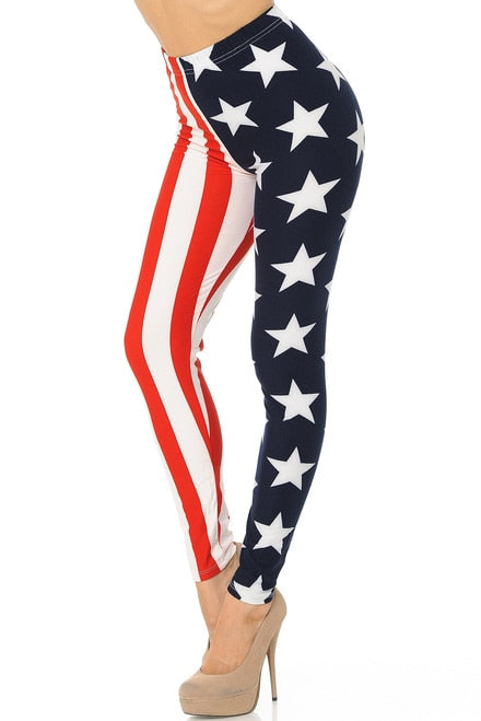 USA Split Flag Leggings