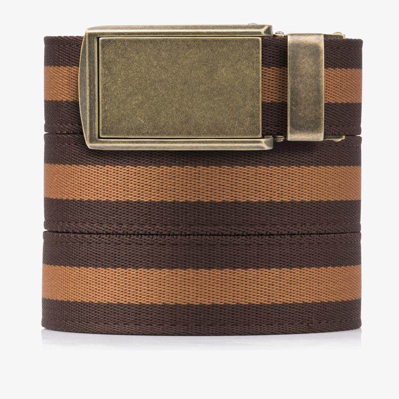 Belts for Men Brown & Tan Canvas