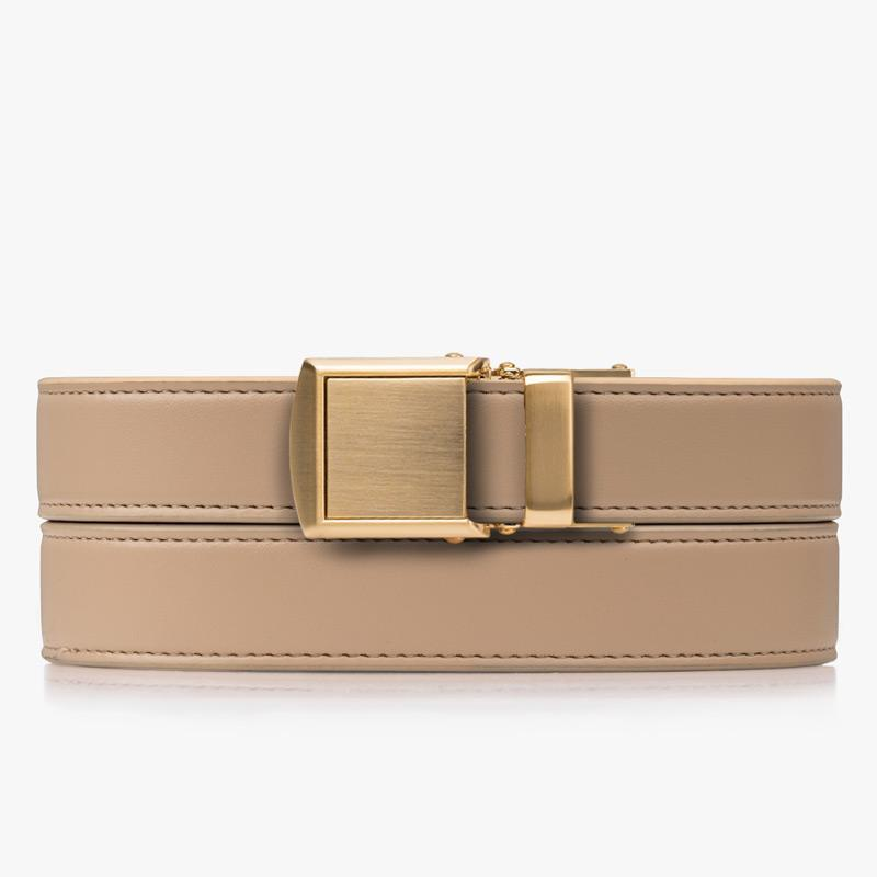 Belts for Women Beige Skinny