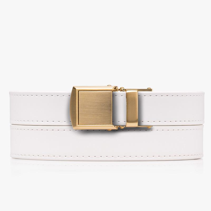 Belts for Women White Skinny