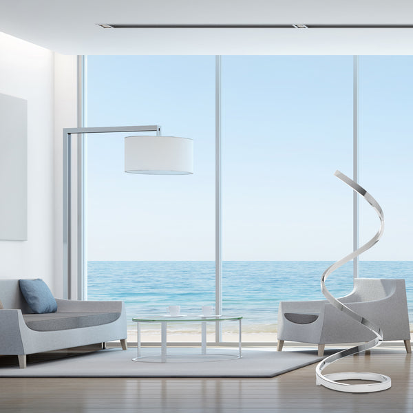 Spiral LED Floor Lamp