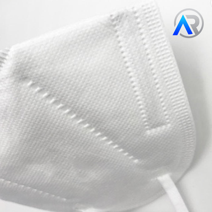 Close up of N-95 Disposable Face Mask - Helps Protect Against COVID-19 (Coronavirus)