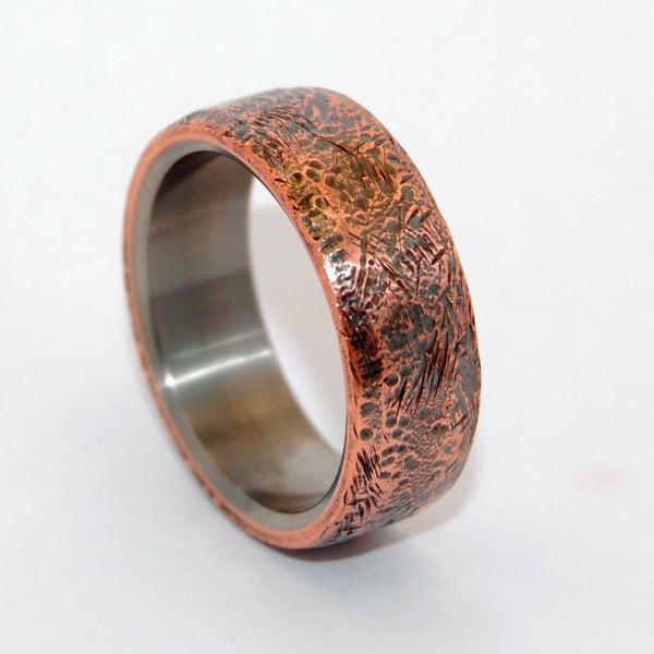 Men's Rings Beaten Copper