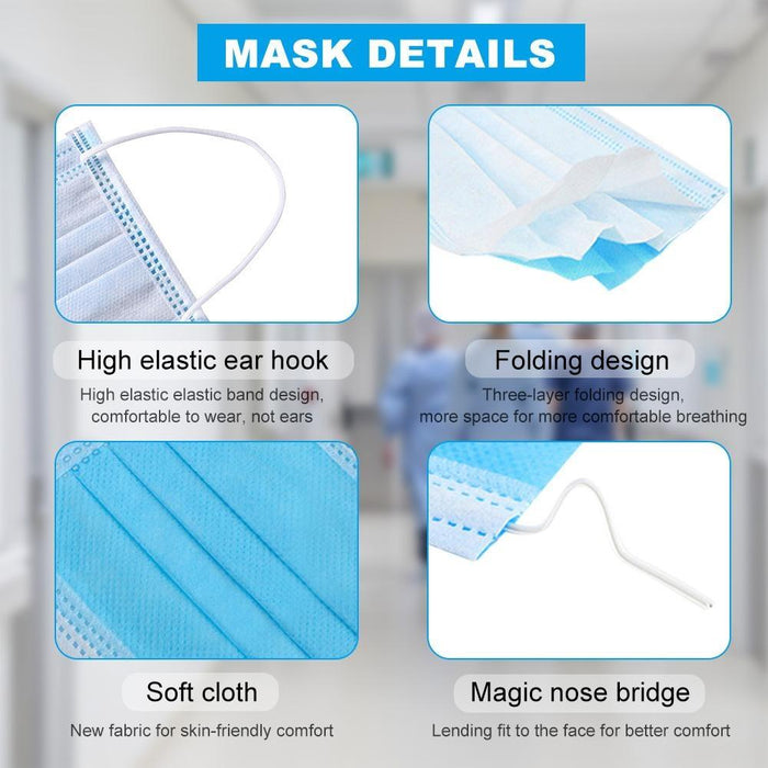 KIDS 3 Ply Non-Woven Masks (Pack of 50)