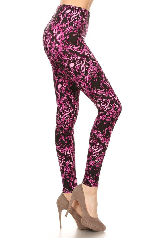 Leggings Electric Music Notes