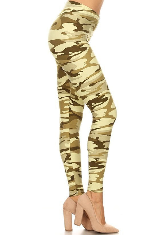 Leggings Light Olive Camouflage