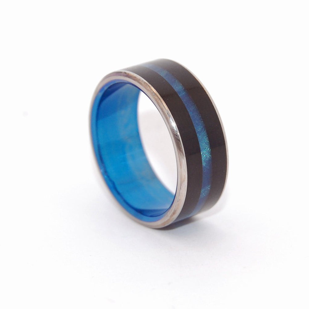Men's Rings Onyx Stone and Blue