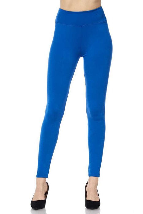 Leggings High Waisted 3 Inch Band Basic Solid