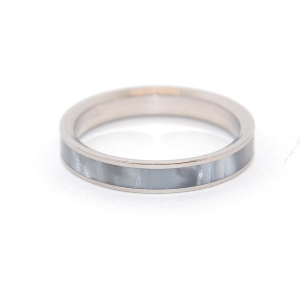 Women's Rings - Slim Gray Marbled
