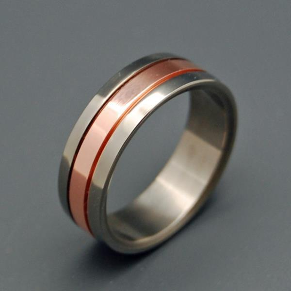 Men's Rings Copper meets Titanium
