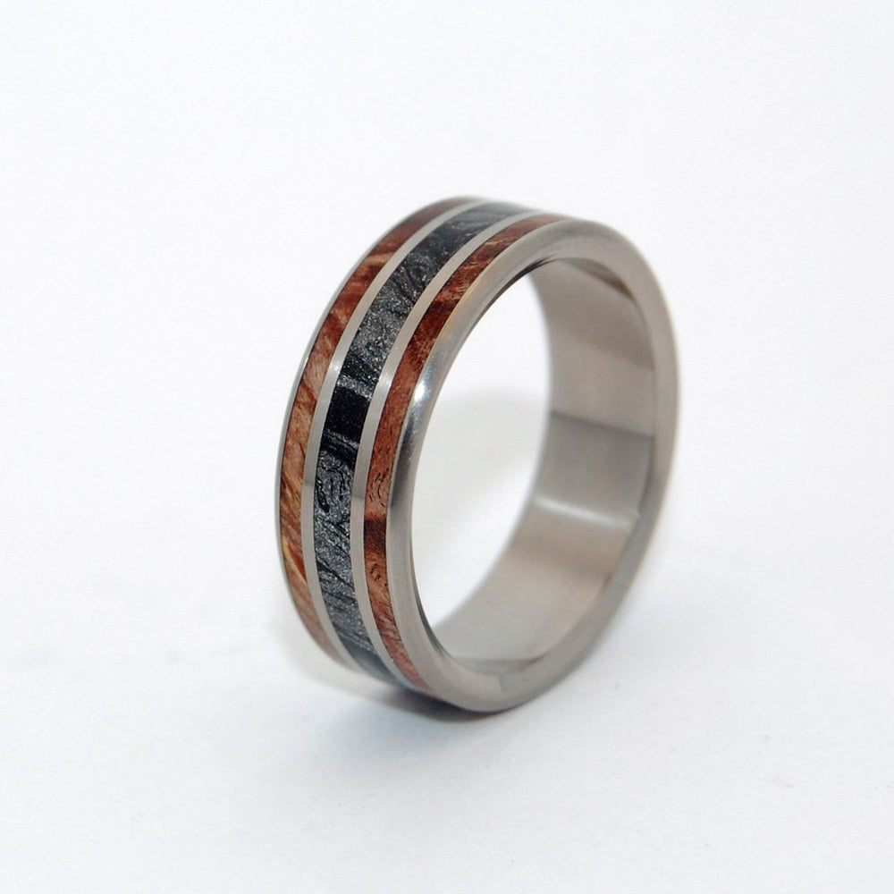 Men's Rings Dark Maple Silver Lining