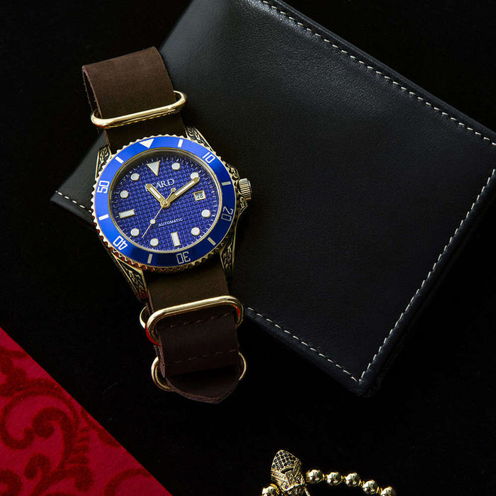 Poseidon Watch by Égard - Filigree Gold