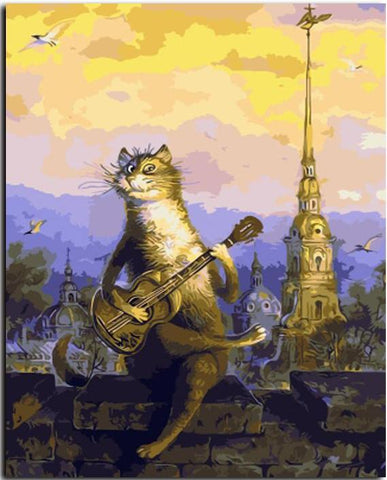 Musical Cat - Paint By Numbers