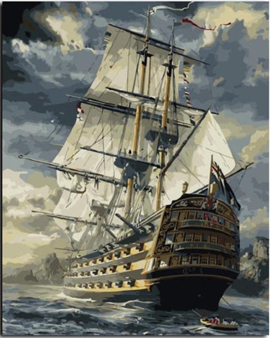 Sailing Ship - DIY Paint By Numbers