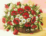 Red And White Flowers - DIY Paint By Numbers