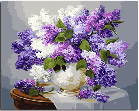Grand Purple Flowers - DIY Paint By Numbers