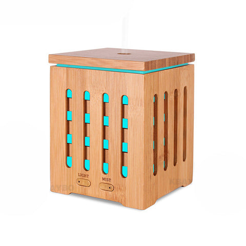 Bamboo Aromatherapy Oil Diffuser With Color Changing Lights