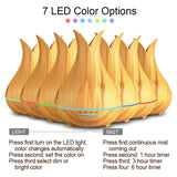 Bulb Shapped Oil Diffuser With Color Changing Light