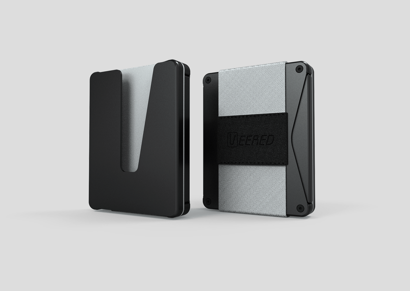 Veered Wallet Wallet Sleek Life Design LLC Black + Grey