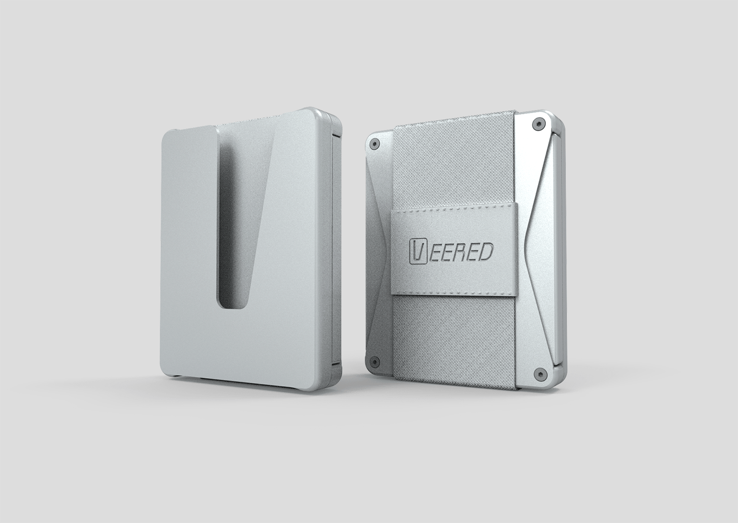 Veered Wallet Wallet Sleek Life Design LLC Grey + Grey