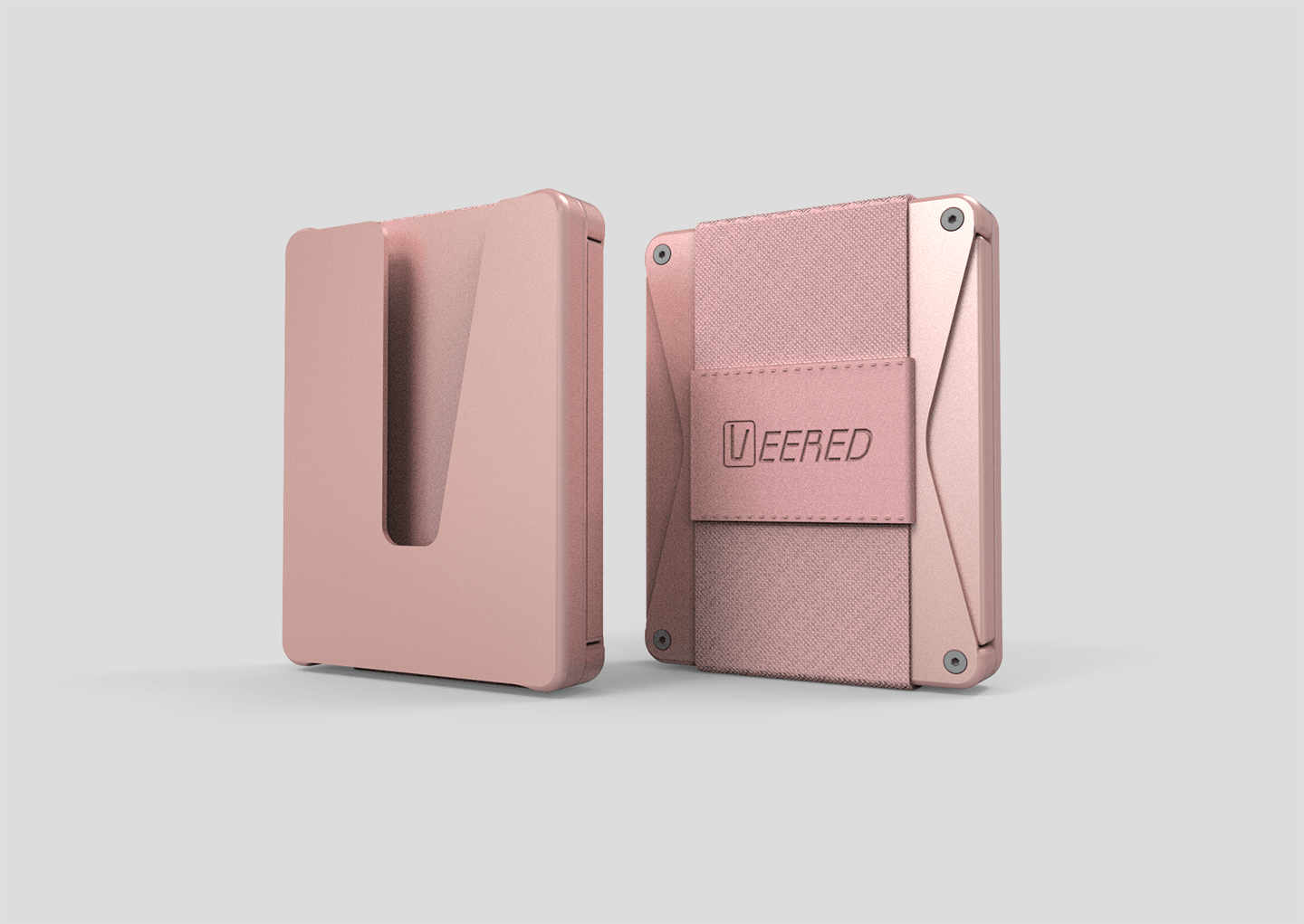 Veered Wallet Wallet Sleek Life Design LLC Rose Gold + Rose Gold