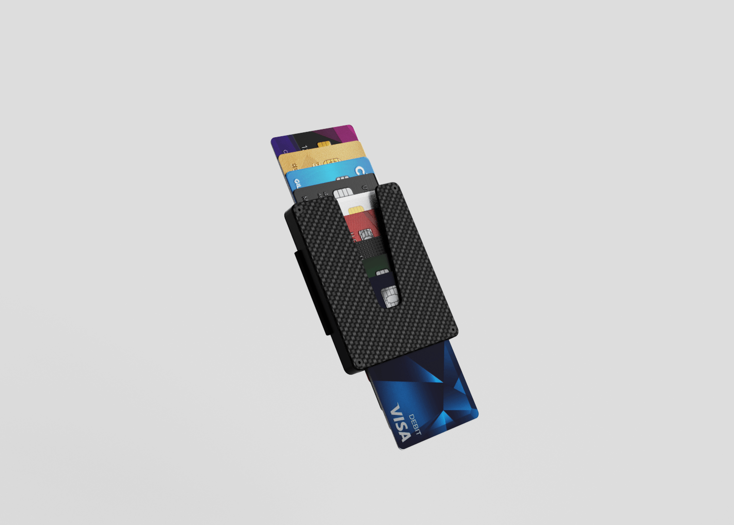 Vext Slim Wallet Wallet Sleek Life Design LLC Carbon Fiber Wallet