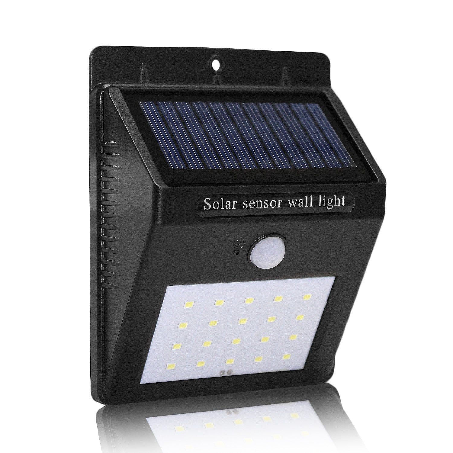 Bing New Solar Motion Sensor Wall Led Light No Wiring Required