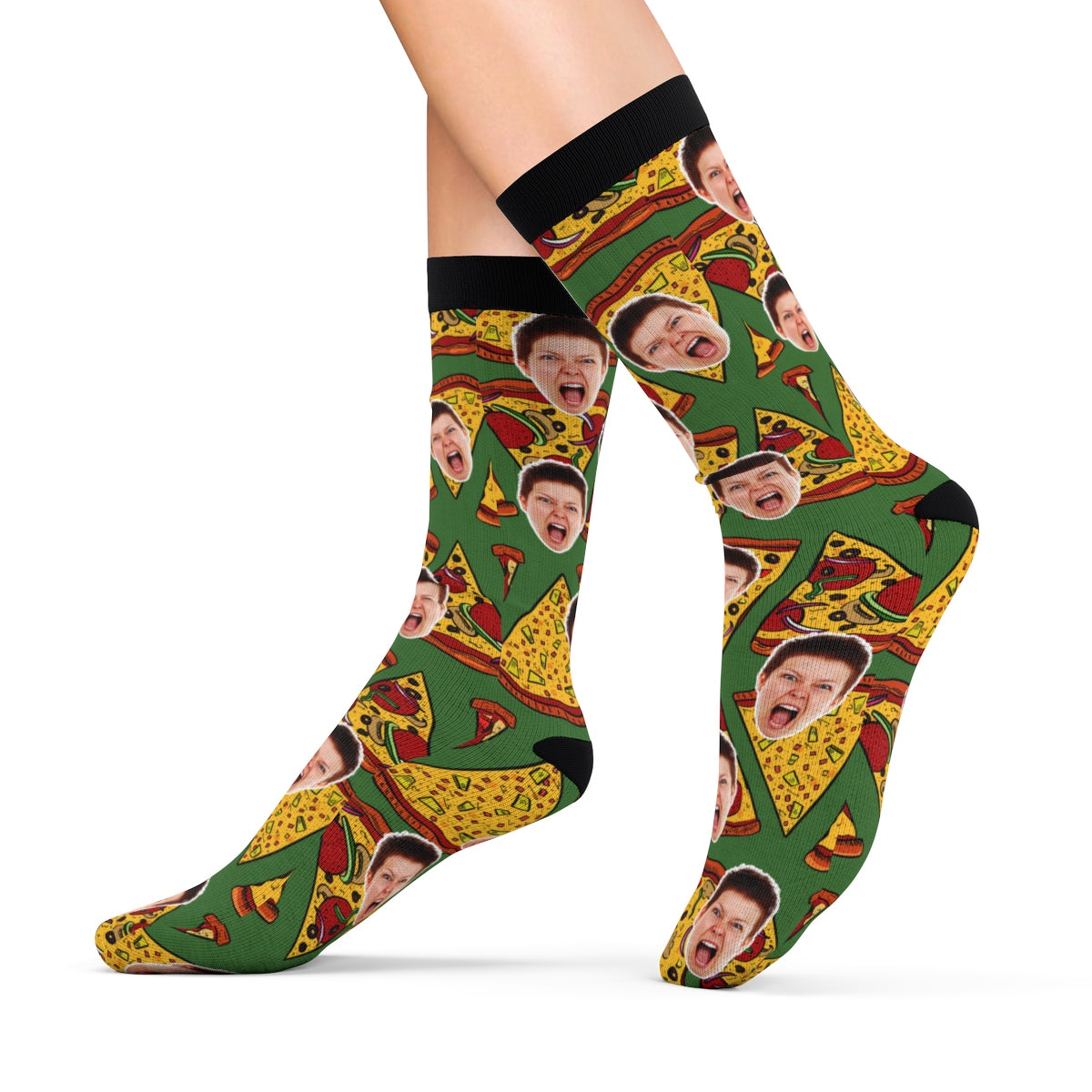 Funny Pizza Socks With Your Face Personalized Socks