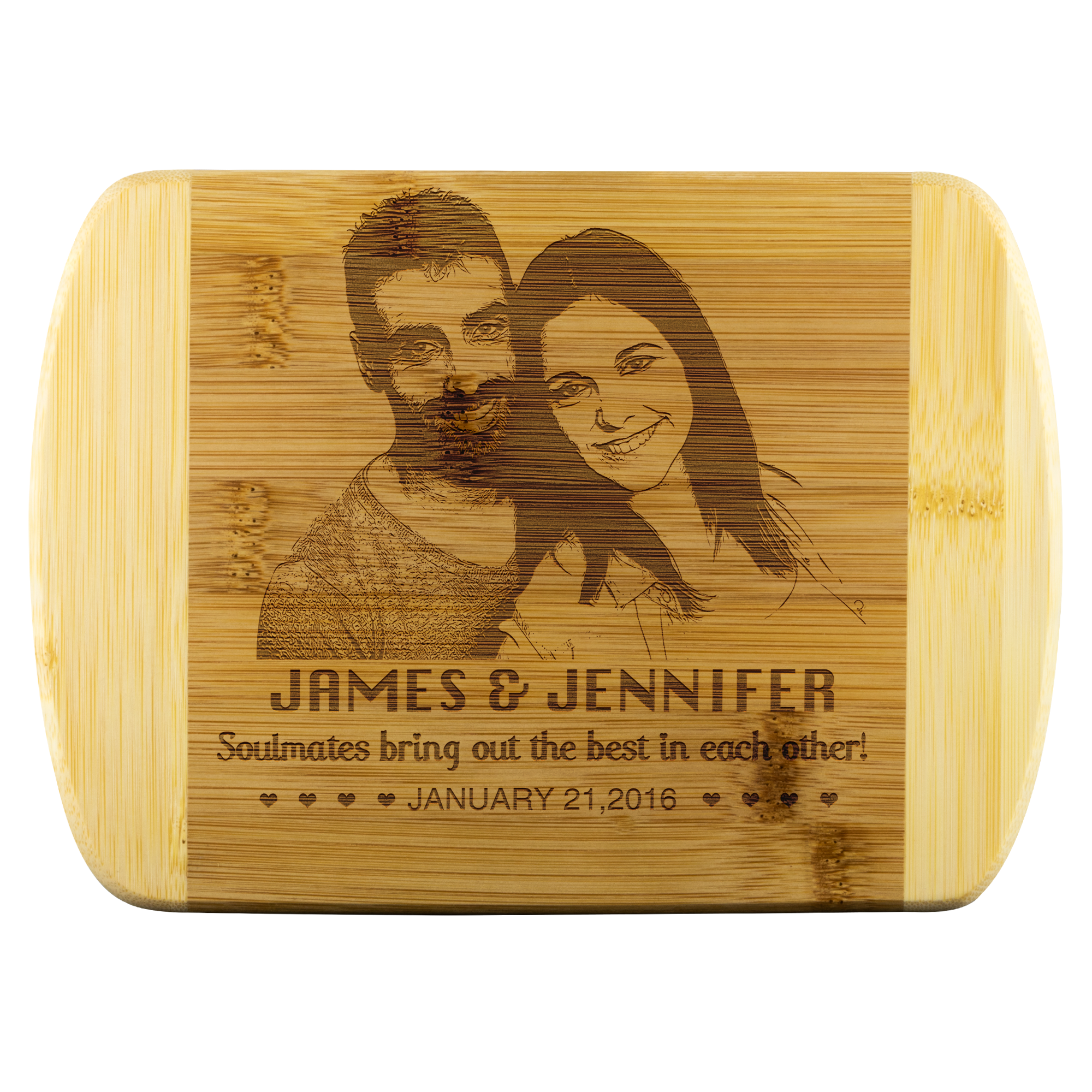 Soulmates.... Personalized Cutting Board With Your Photo And Name